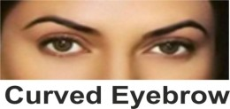 Curved brow
